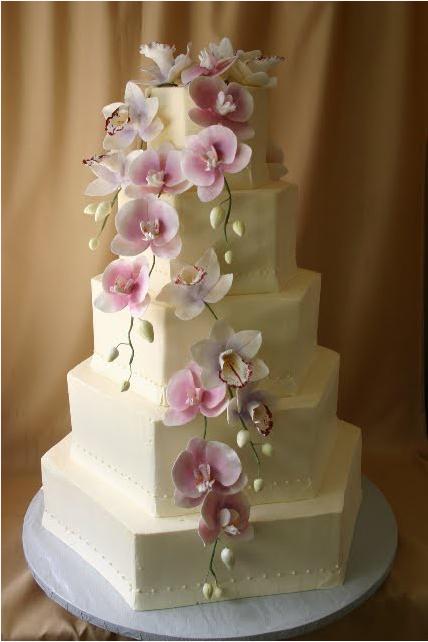 Wedding Flower Cakes White