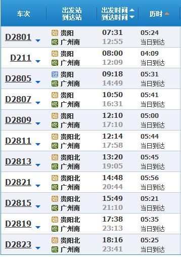 贵阳到广州飞机票价
