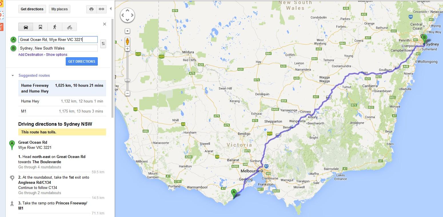 悉尼开车到墨尔本多久