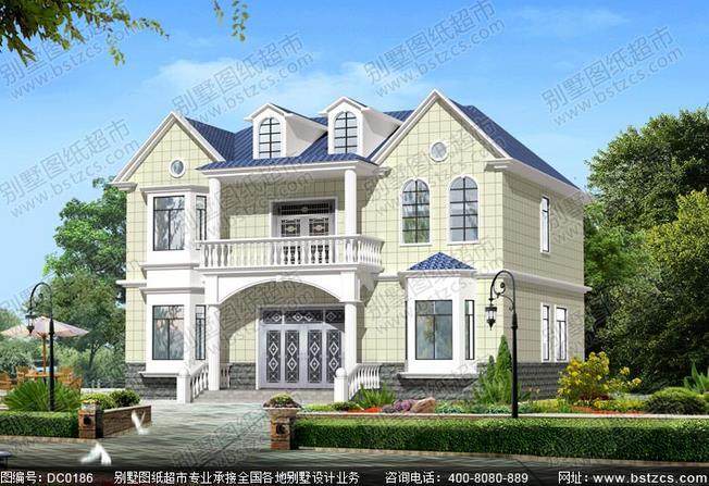 农村二层半别墅设计