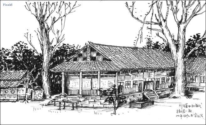 风景素描简单铅笔画图片