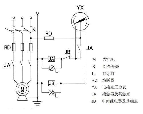 电接点压力表接线图图片