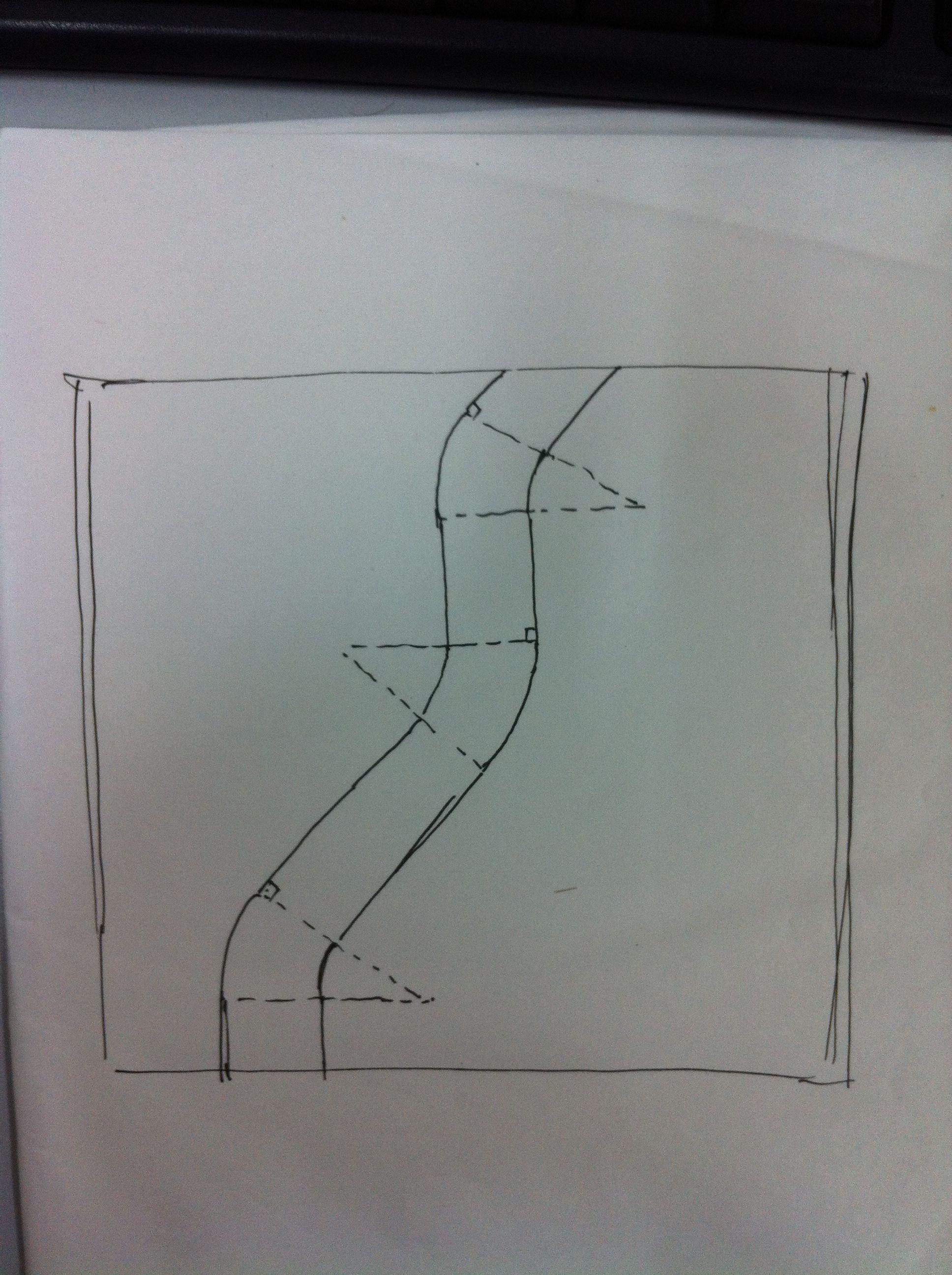 由一张平面图演变成立面图,要手绘的 9 2009-12-14 两点透视画法 25图片