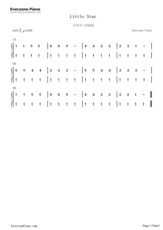 看不懂钢琴谱,有没有简谱但是两只手弹的图片