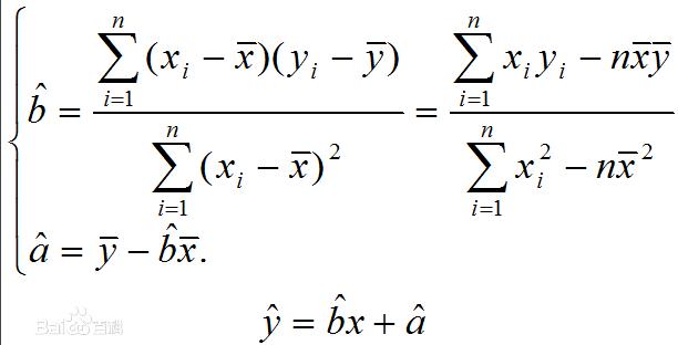 若直线回归方程y=a+bx