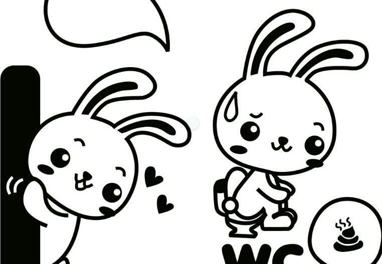 点第一只兔子要把腿画粗一些,可爱么 回答 再花点花边,我是美术达人图片