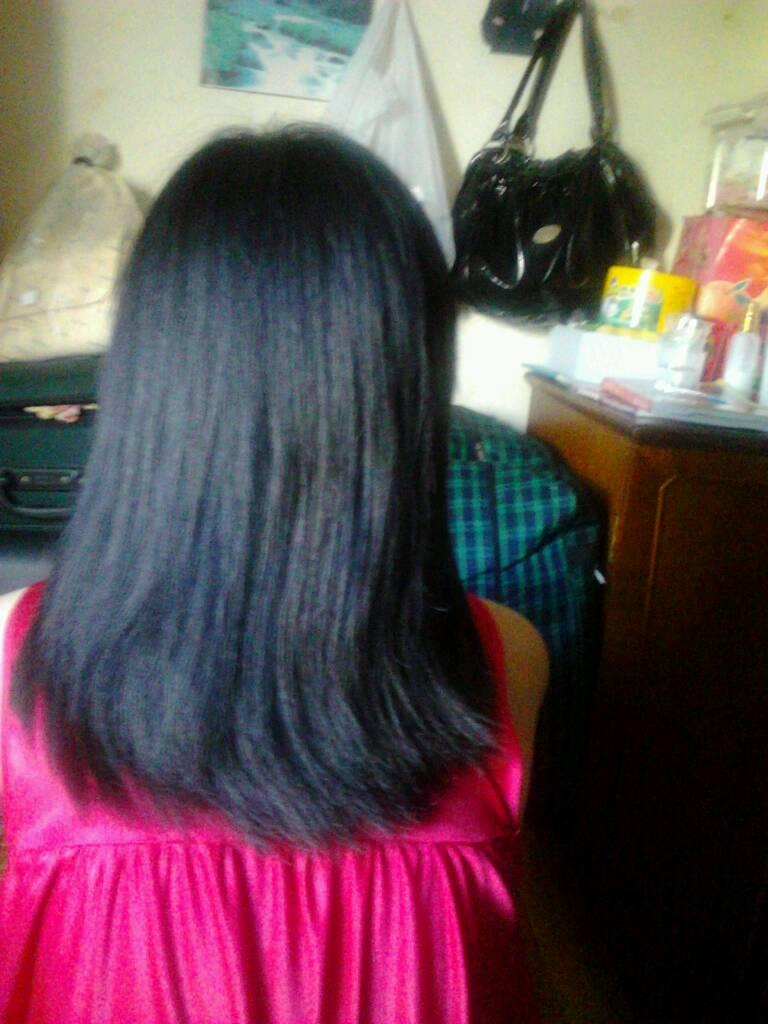 我从短头发留到长头发,但是都找到这里还翘,而且挺粗硬的,发质还可以图片