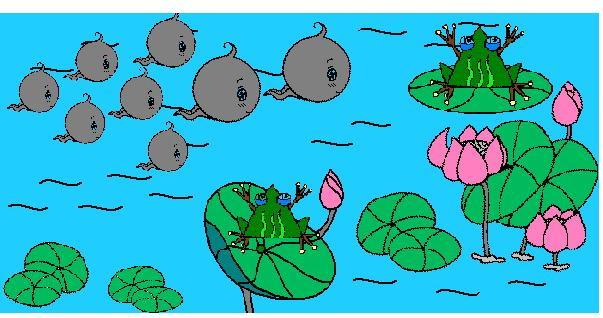 可以适合小孩子画画的故事,小蝌蚪找妈妈之类的····给他读一.图片
