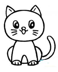 猫怎么画简笔画步骤