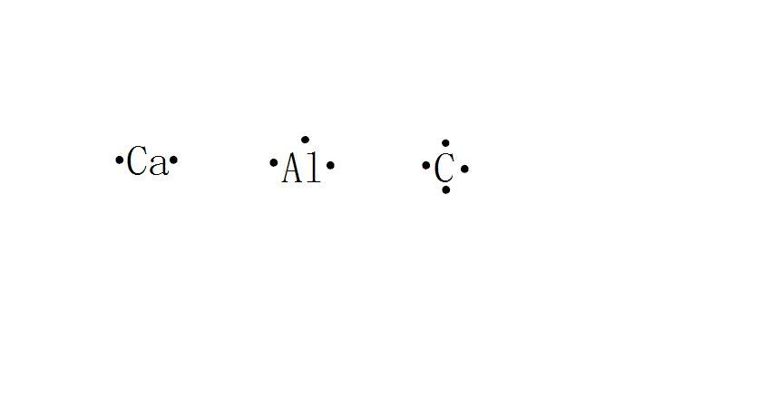 ca,al,c 原子的电子式怎么写图片