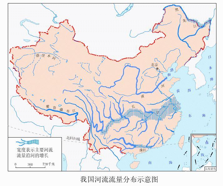 我国河流分布图_求中国各大河流大图