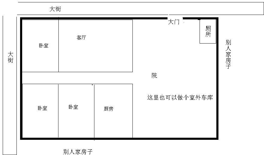求农村二层半房屋设计图图片