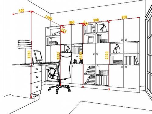 层板书架造型效果图图片大全 书架层板 三居 中式 装修效果