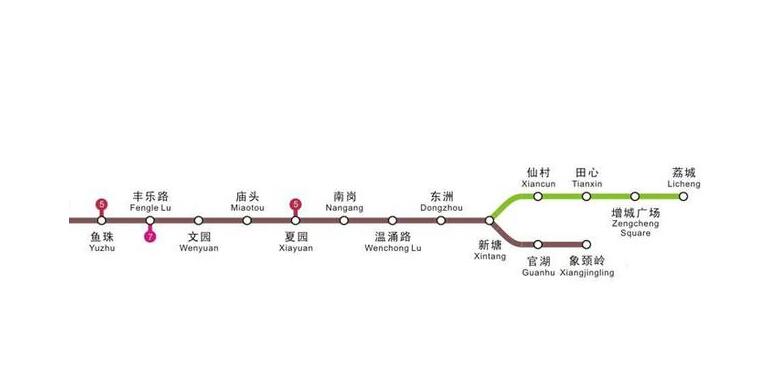 求图片:广州地铁13号线文园站下一站是什么站图片