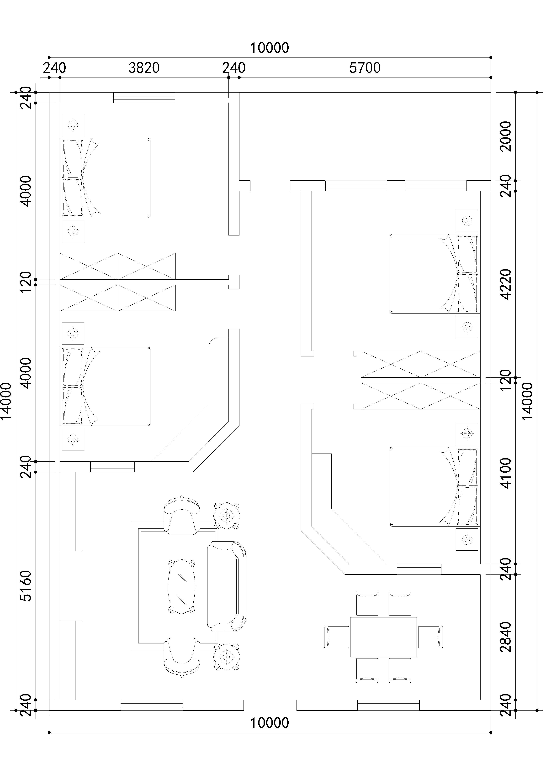 农村层房屋设计平面图-房屋设计图 房屋设计 在线学平面设计 费学平面图片