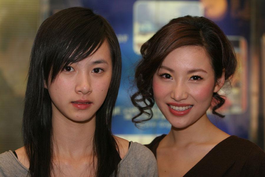 请问这两位美女明星分别是谁
