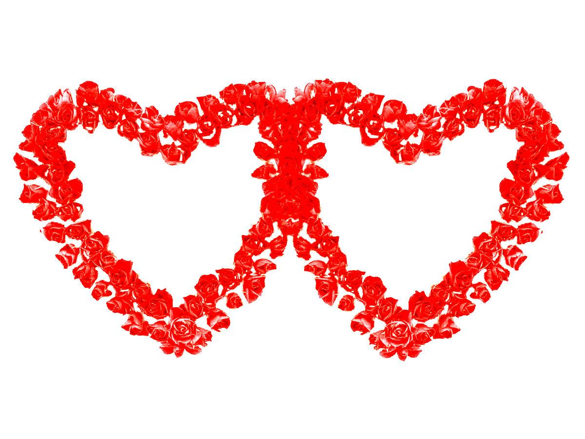 一个心形图案,边上有两个独字的是什么成语