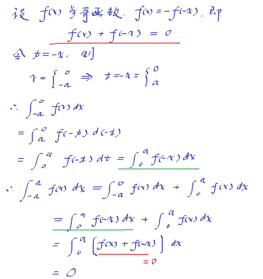 奇函数无穷区间积分