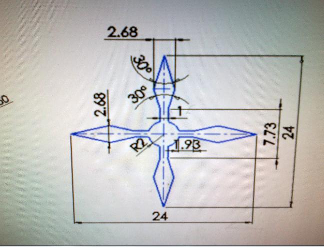 谁能用电火花线切割g代码设计这两个其中任意一个图形图片
