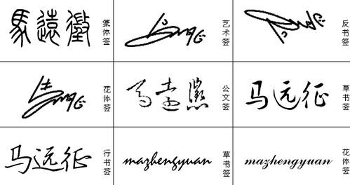 艺术签名设计免费版 我的名字叫马远征,帮忙设计下签名.谢谢图片