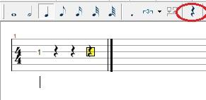 如果选择的是二分音符,它的休止符就是你如图所示的样子不过它已经图片
