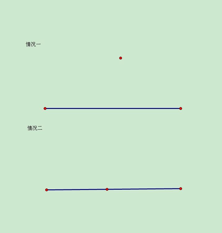 """""""过一点和一条线段如何画垂线?""""相关的详细问题如下:用圆规如何画呢?图片"""