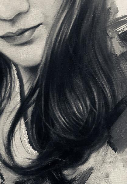 线描的头发画法图片