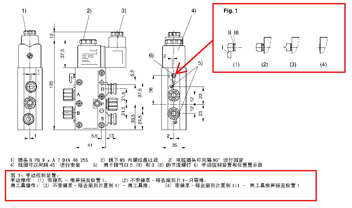 2位5通电磁阀手动可以打开吗原理图图片