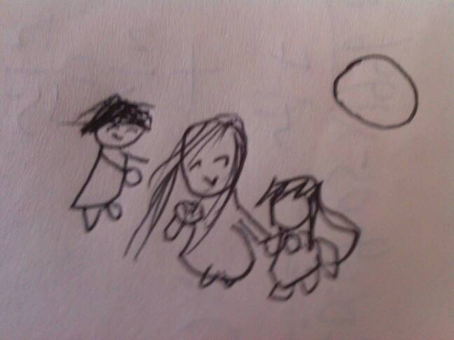 帮忙画一副一家人在一起吃月饼的画图片