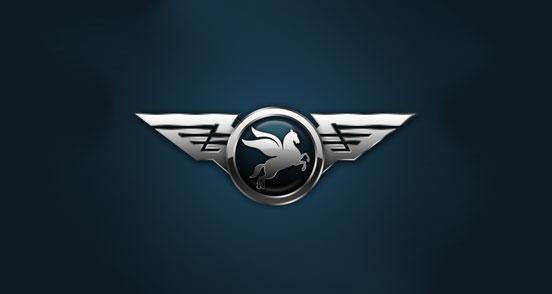 想设计一款车标,只考虑马和豹这两个作为车标主力,背景为盾牌