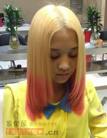 发质硬,头发又厚,圆脸的女生适合什么发型图片