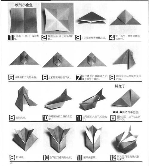 如何折兔子餐巾 how to_餐巾花的折法步骤图,餐巾花样折法图解; 图片