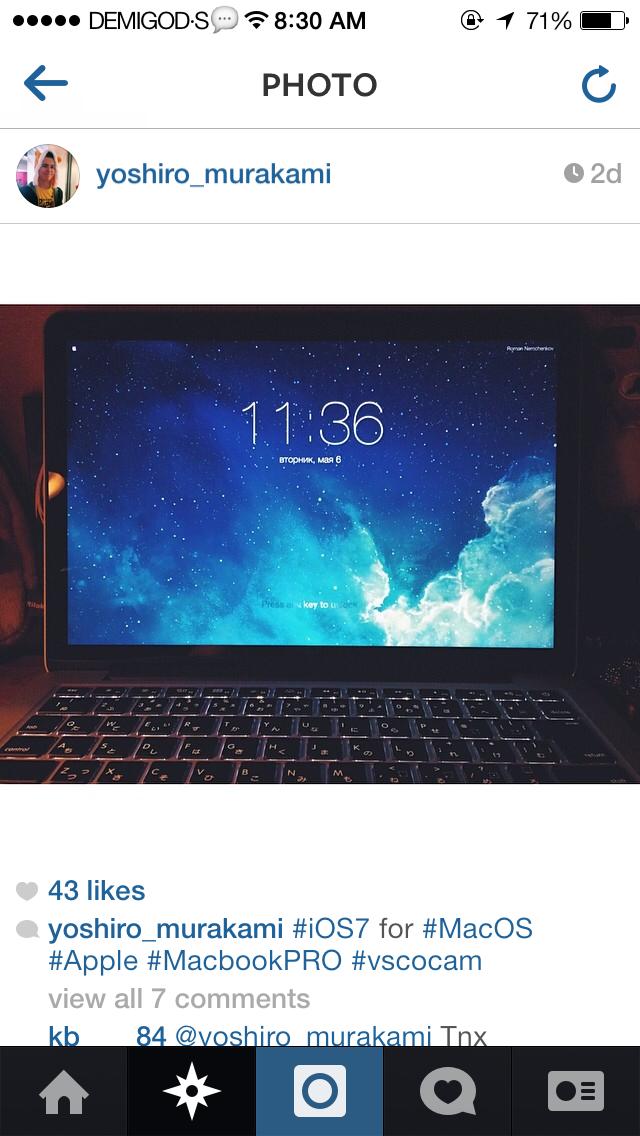 macbook pro 怎么弄成ios7锁屏界面?求大神解答!看图片!