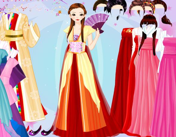 旗袍美女换装小游戏