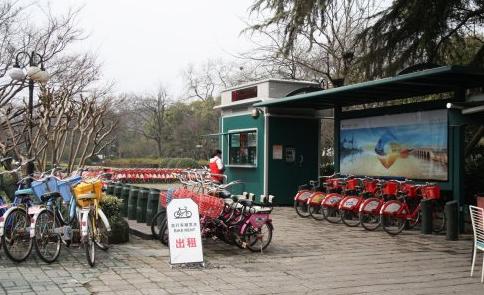 杭州西湖自行车租赁点