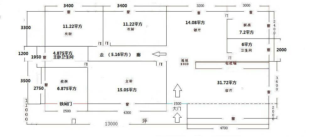农村自建房设计图,求大神帮忙看下走廊光线问题该怎么图片