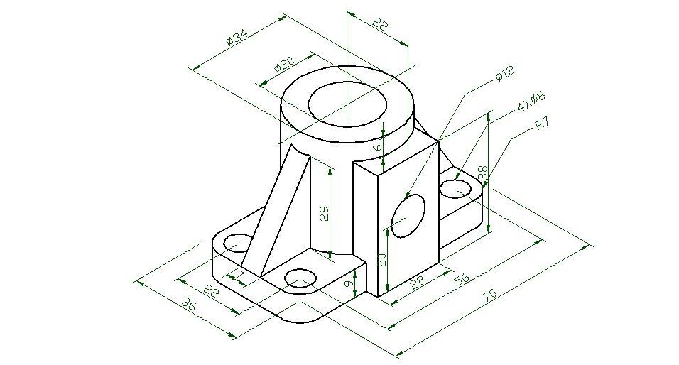 cad怎么在平面画出立体图?(等轴侧图.).; 图片