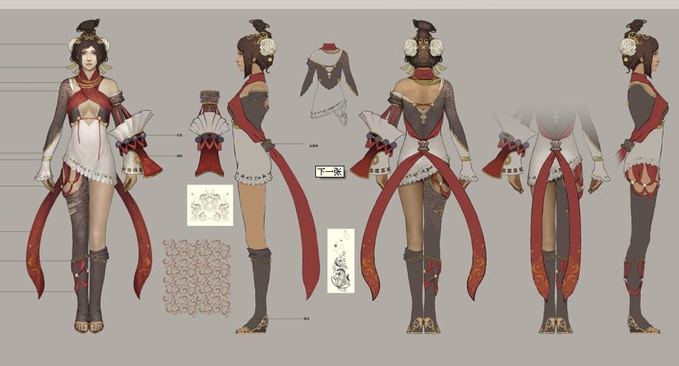 三视图,maya建模用   创作卡通角色人物;掌握依据骨骼动画与高清图片