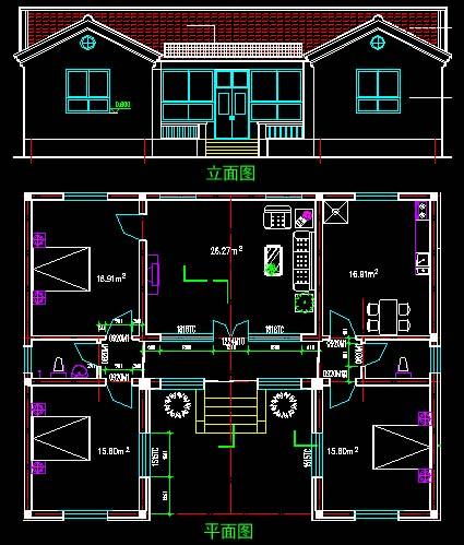 农村三合院设计图 农村一层三合院效果图 农村二层图片