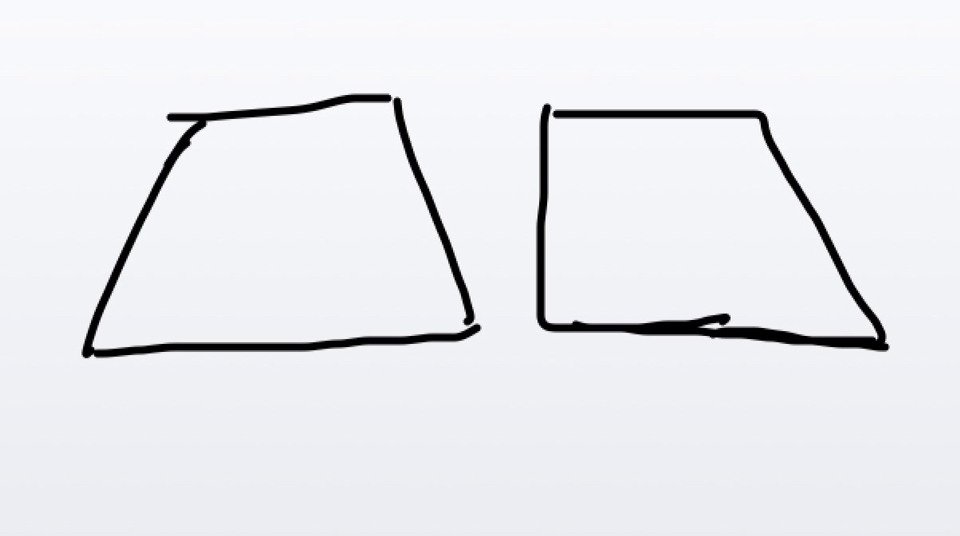 画3个不同的梯形图片