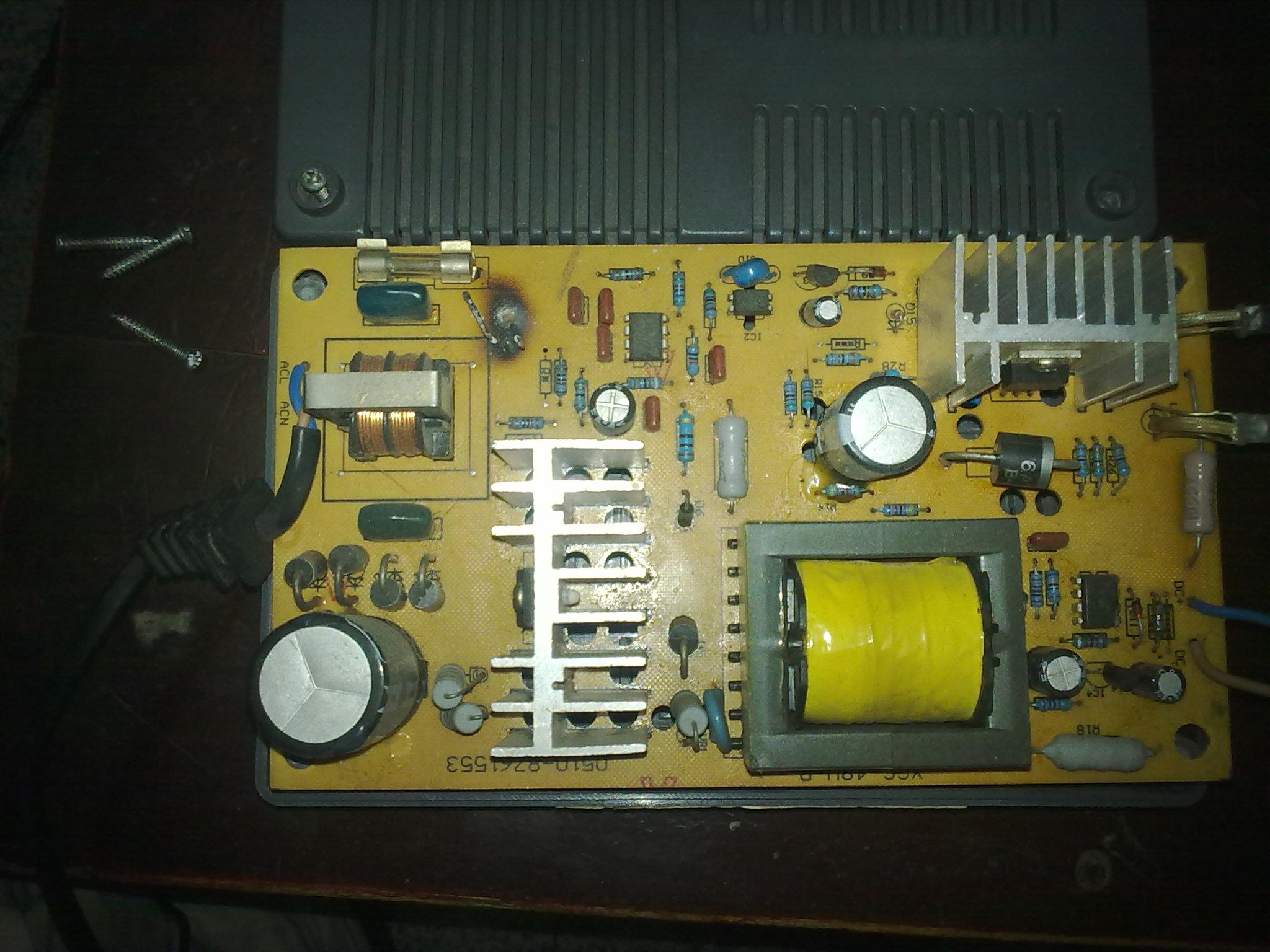电瓶车充电器实物电路图图片