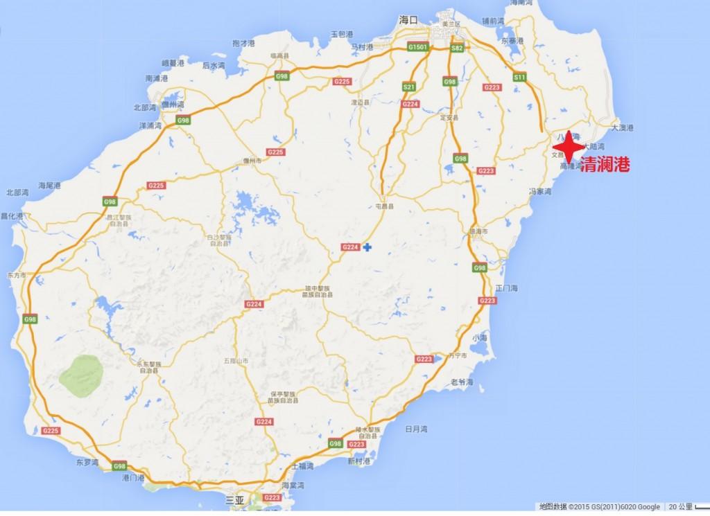 海南好玩的地方地图
