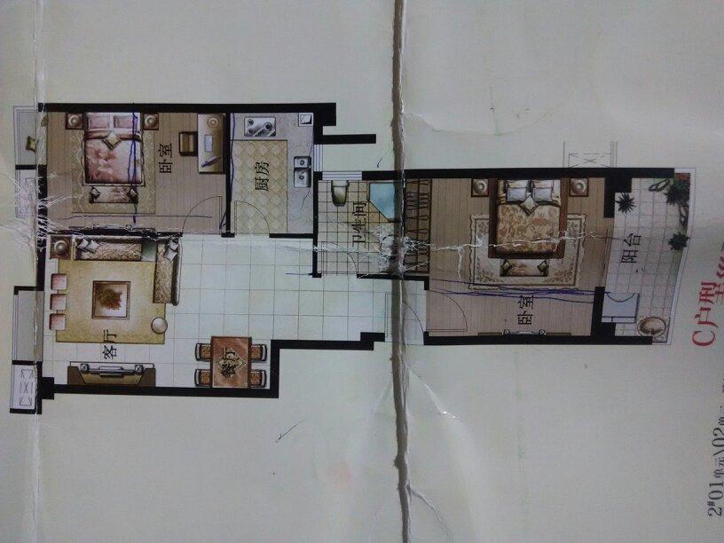 求解65平方房子设计图,想要个小三房,进门是墙可以敲做鞋柜吗?图片