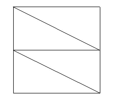 把一个正方形分成面积相等的四个三角形图片