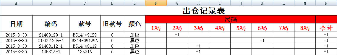 excel库存表格模板_求一份服装类的excel版的 库存 管理 表格模板