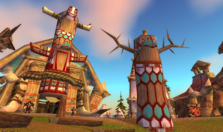 魔兽世界里雷霆崖主城的建筑和图腾柱属于什么地方的
