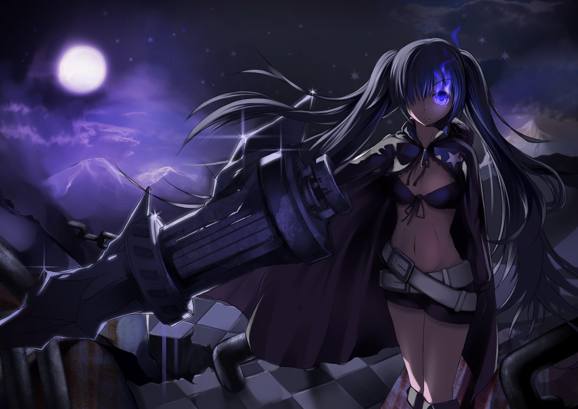 紫黑瞳的动漫美少女图图~~~要看