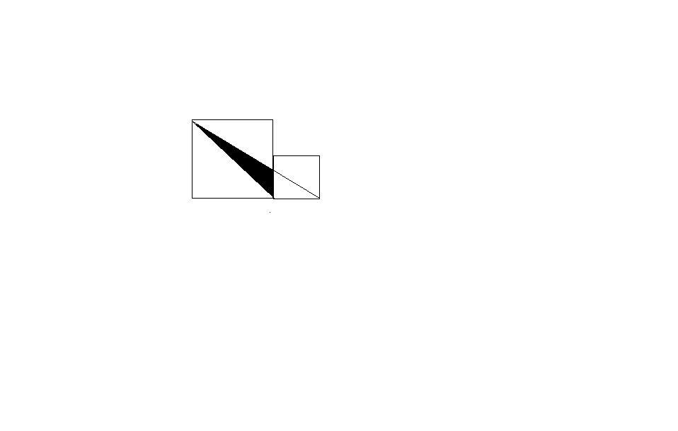 如图,边长为10和7的两个正方形并列放在一起,求三角形图片