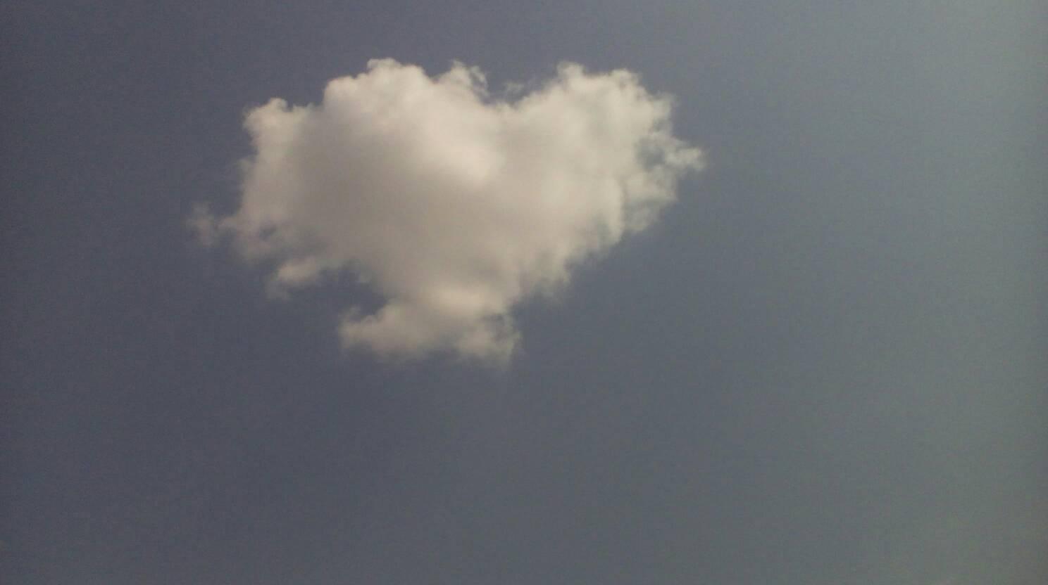 心形云朵,好看吗?图片