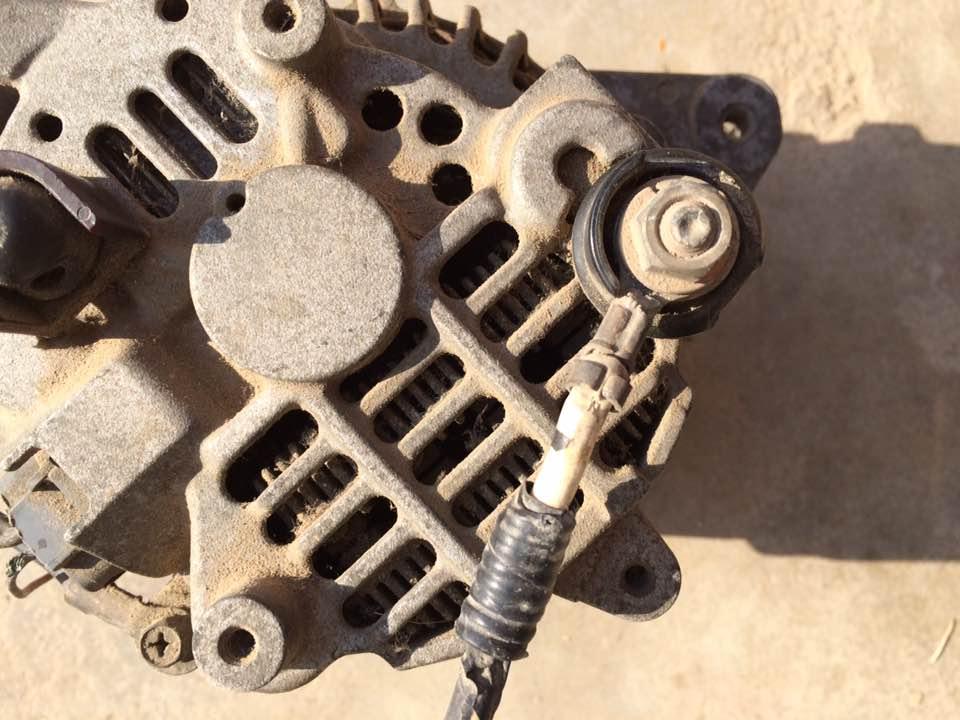 求汽车发电机机接线图 高清图片
